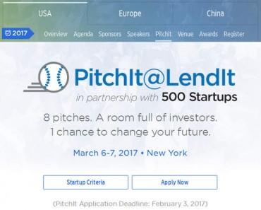 PitchIt USA 2017: vuelve la competición de startups de LendIt