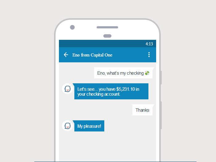 Capital One lanza Eno, un chatbot que entiende los emoticonos