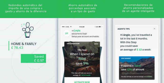 Capturas de pantalla de la app Oval Money